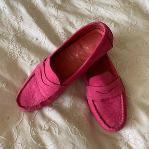 Cole Haan pink loafers
